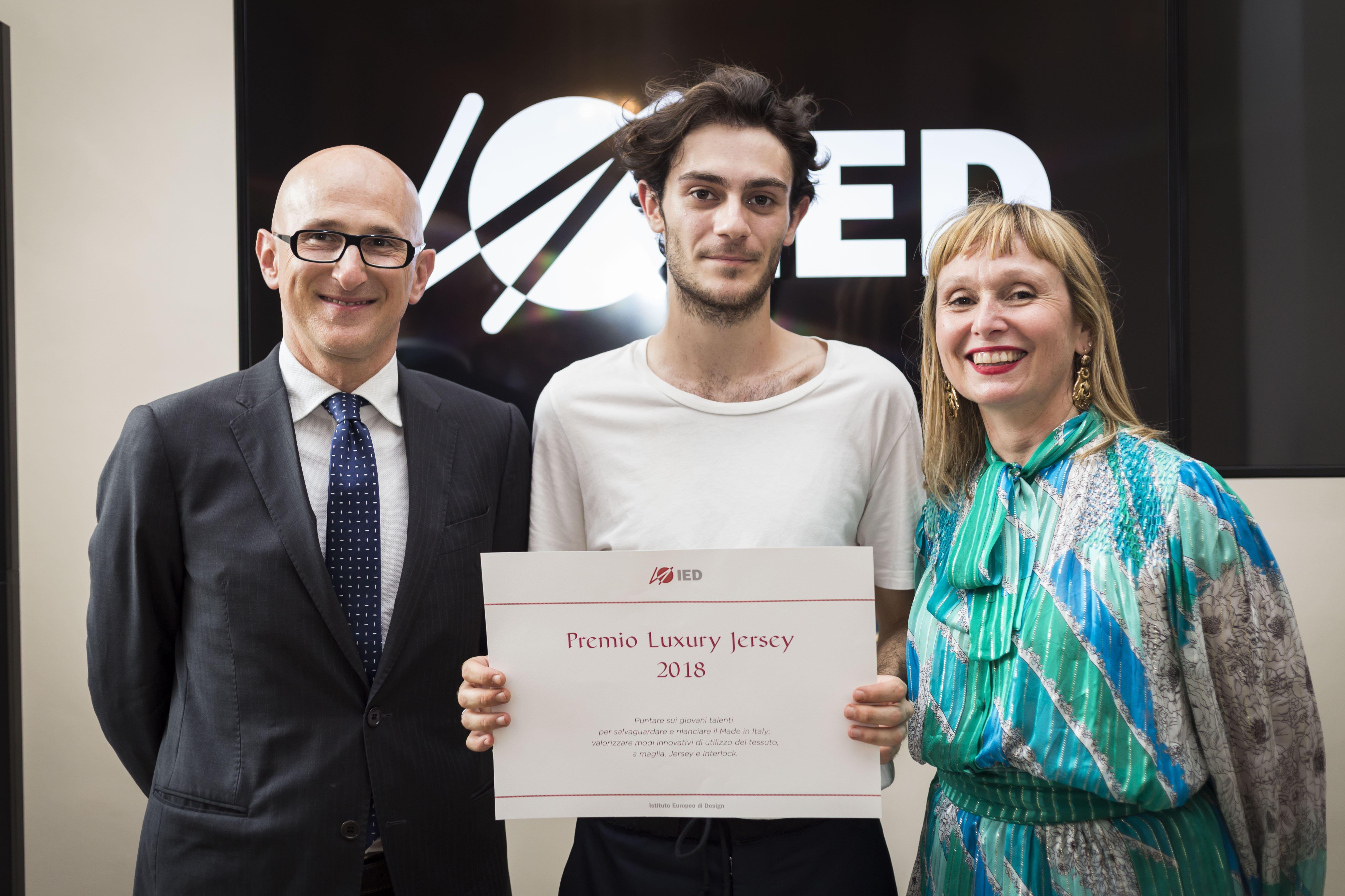 Federico Boselli e Giovanni Costa_ Vincitore del Premio Luxury Jersey