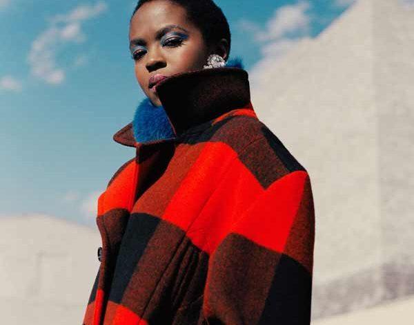 lauryn hill red coat woolrich