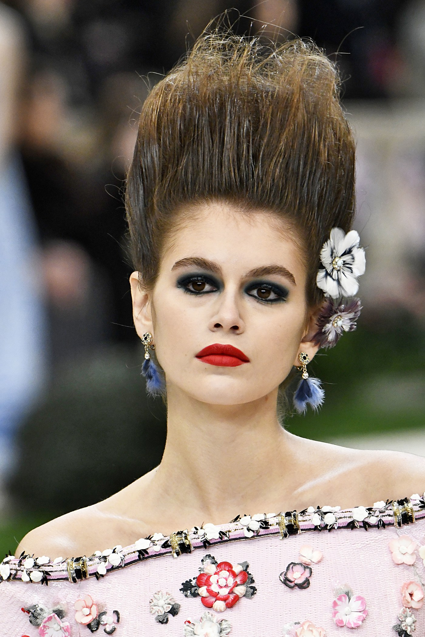 Kaia Gerber per Chanel- make up haute couture 2019