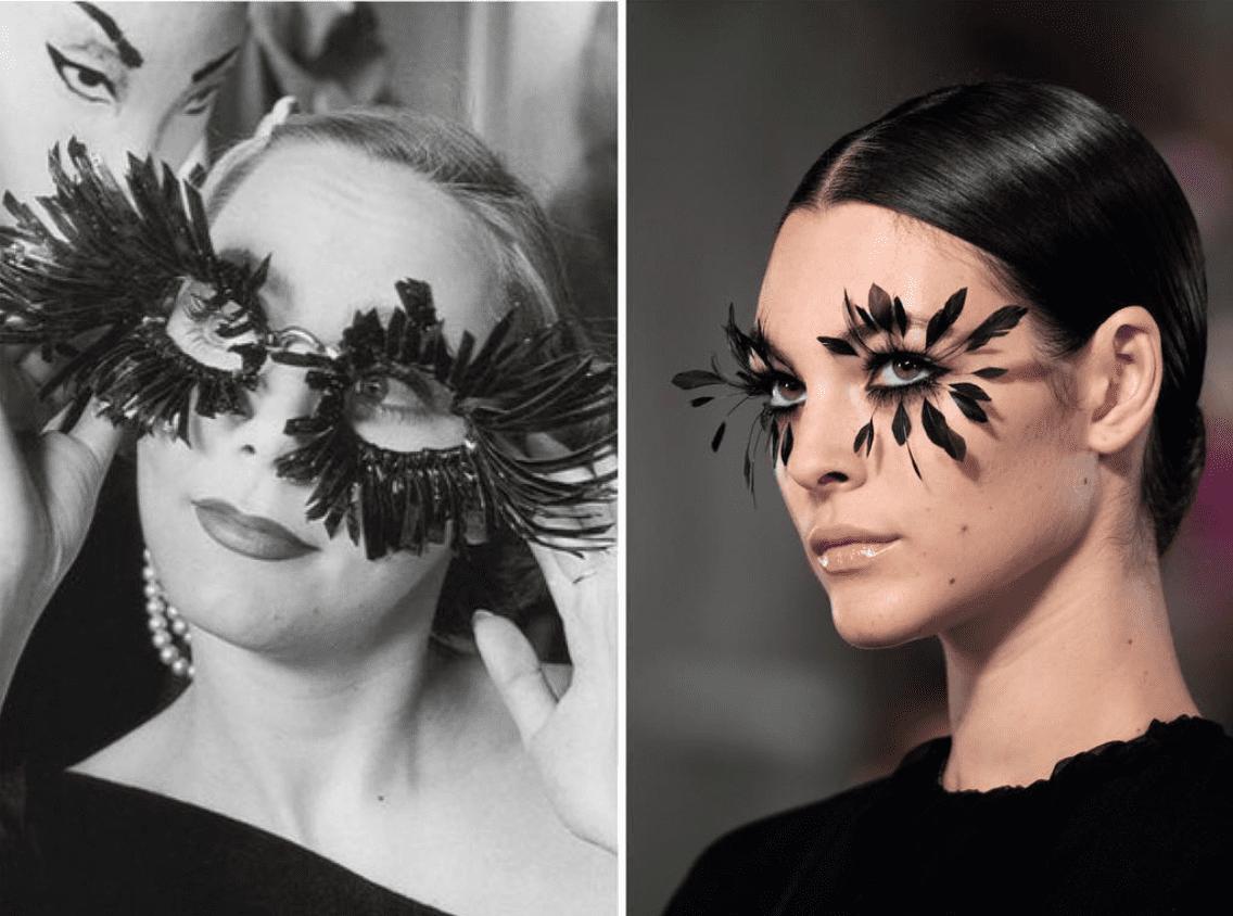 ispirazione vs copia_Elsa Schiapparelli 1951 Valentino make up spring 2019