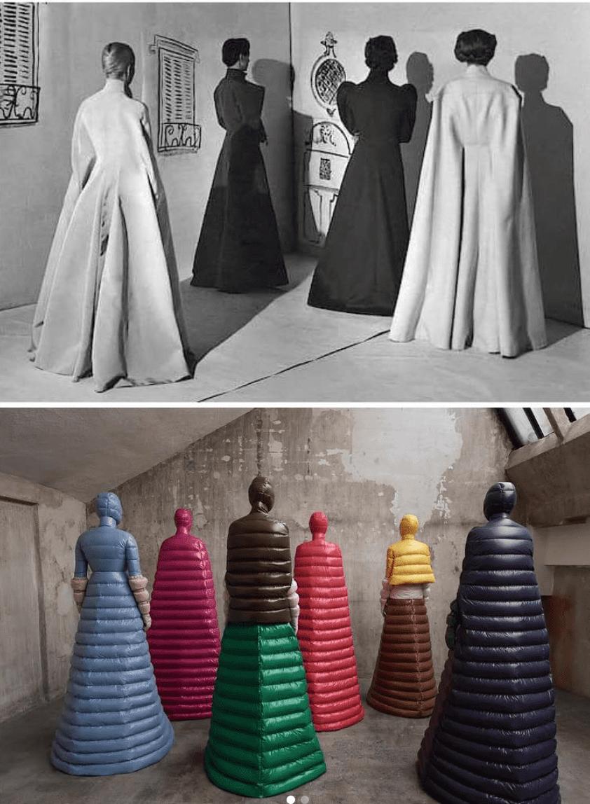 ispirazione vs copia _ James coat vogue 1936 _ Moncler fall 2019