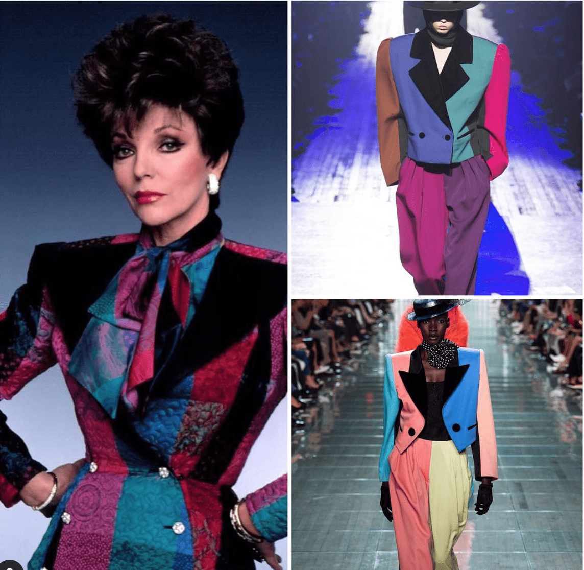 ispirazione vs copia _ Joan Collin '80 Marc Jacobs fall 2018 spring 2019