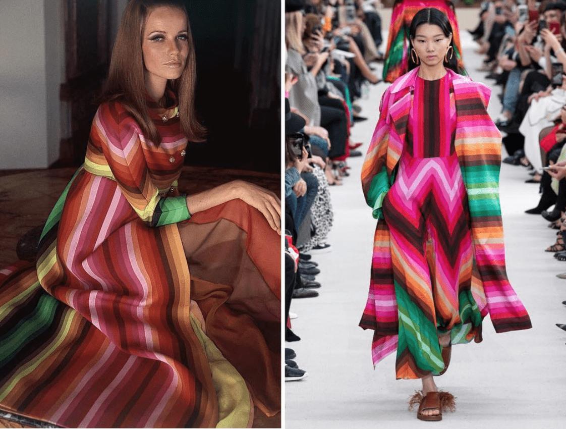 ispirazione vs copia_Valentino 1966 Valentino spring 2019