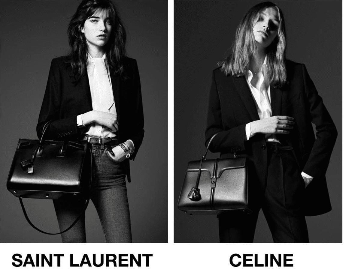 ispirazione vs copia_ yves saint laurent 2014 Celine 2019