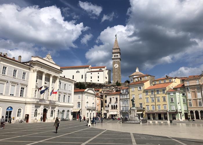 Piazza Tartini a Pirano
