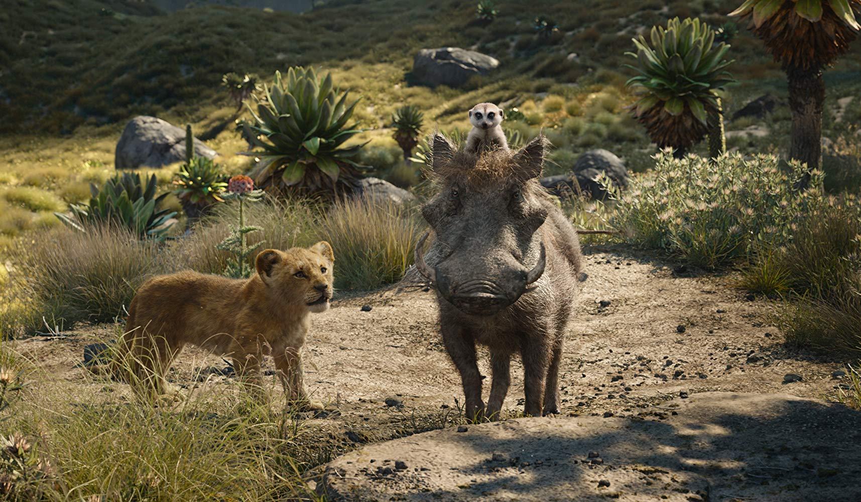 Simba con Timon e Pumbaa